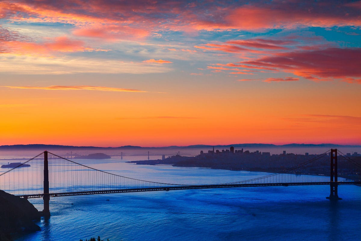 Crissy Field san francisco sunset views