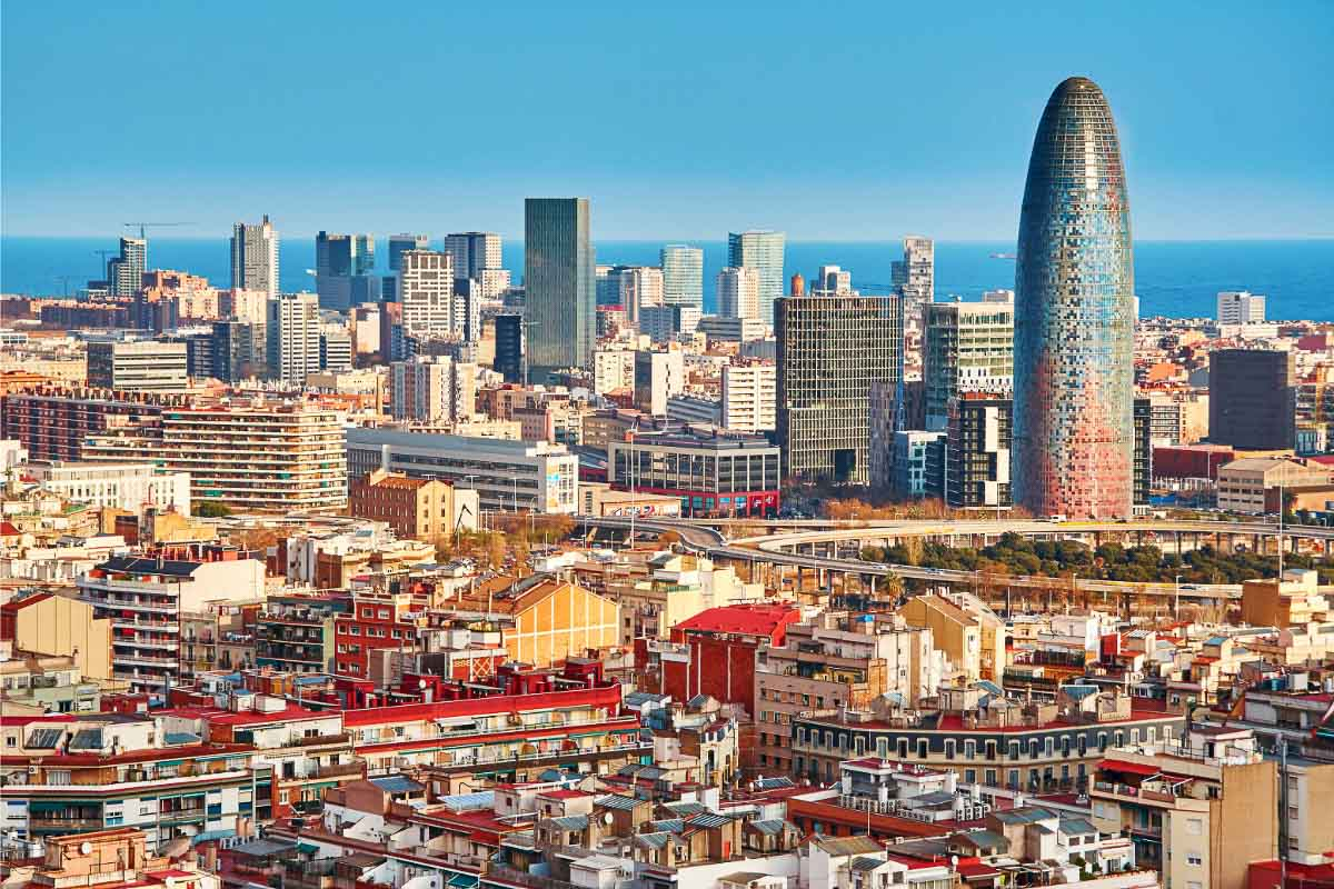 barcelona skyline with Agbar tower