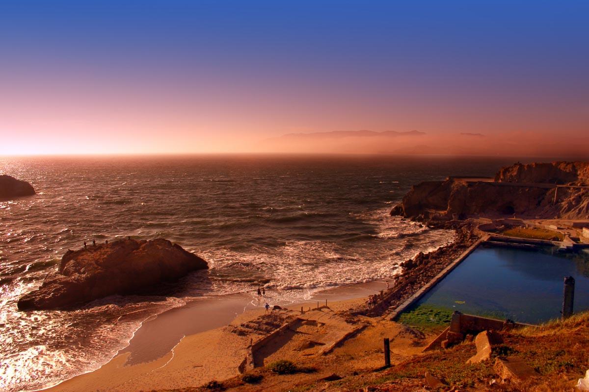 ocean beach san francisco sunset