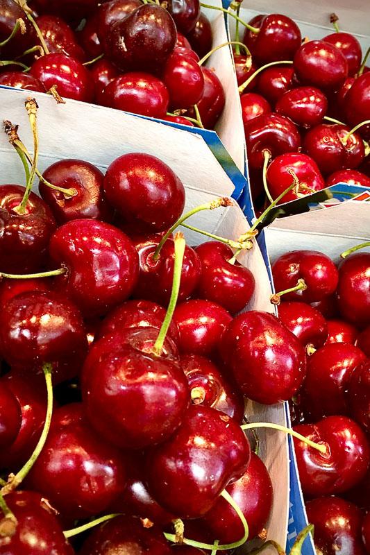 punnets of cherries in michigan