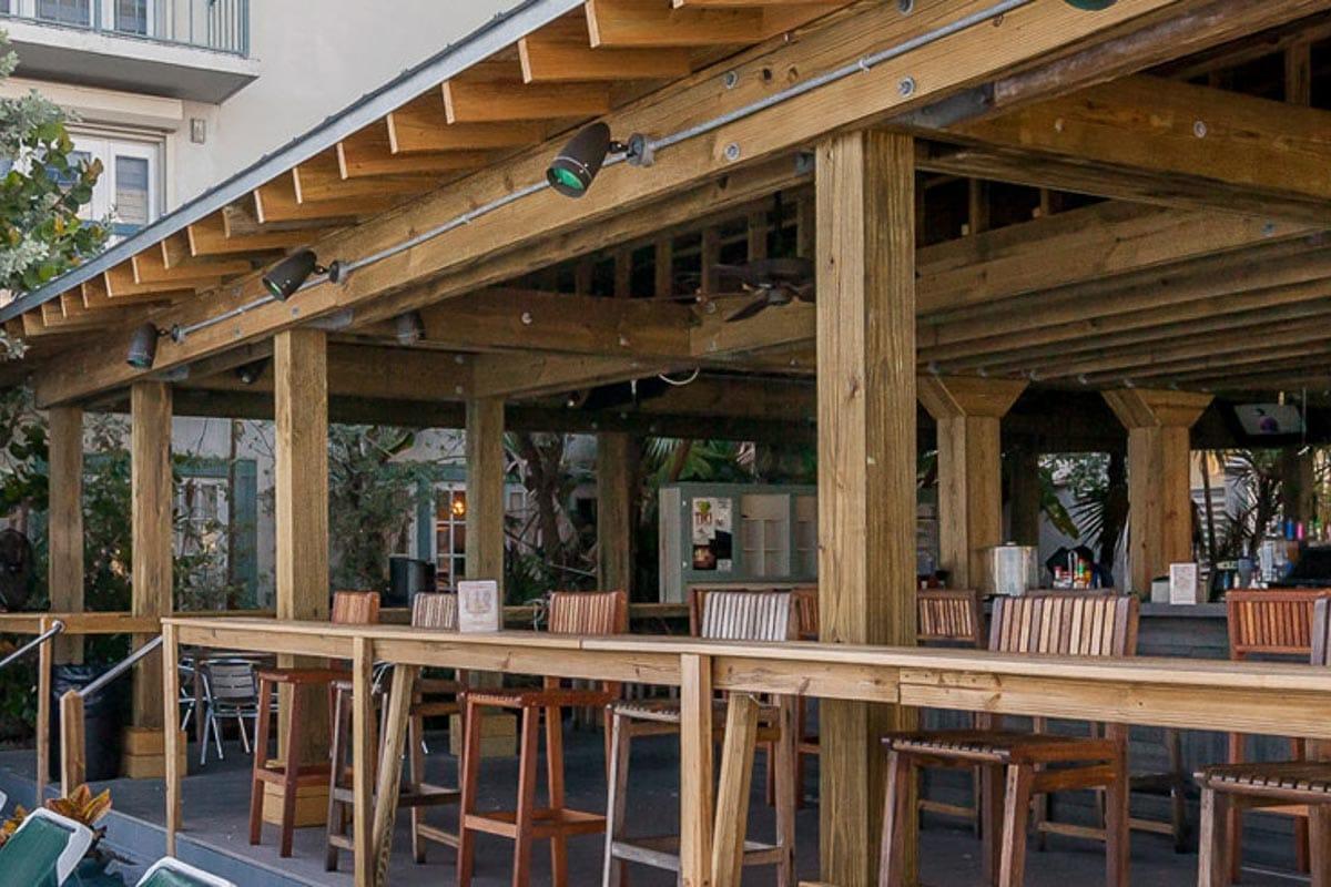 Sunset Tiki Bar at the Galleon Resort