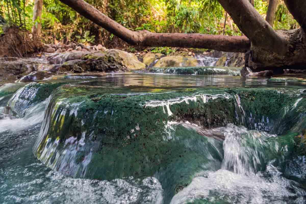 hot springs in washington waterfall up close