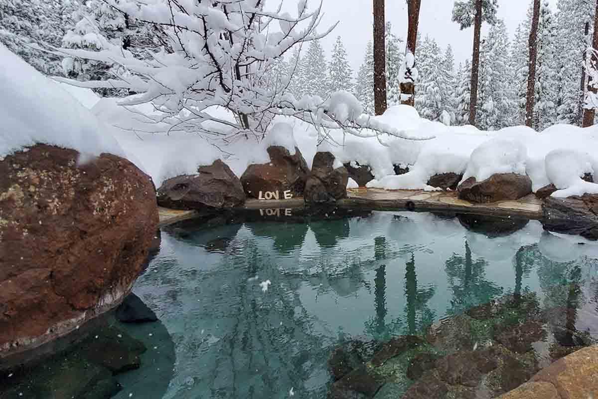 sierra hot springs in winter