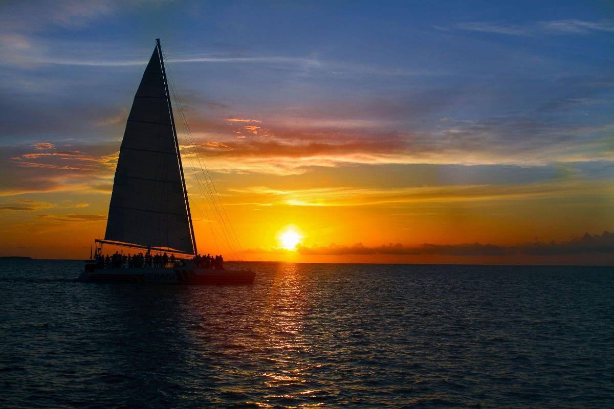 sunset sail key west