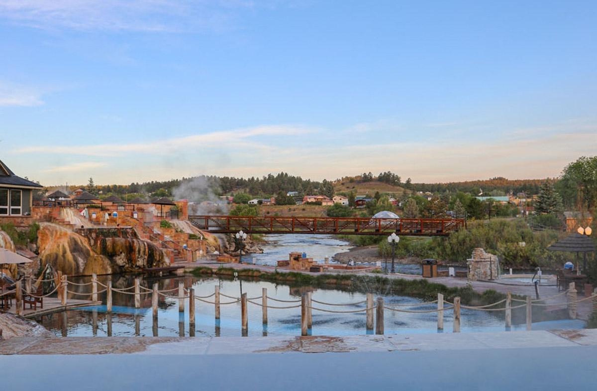 sunset social hot spring