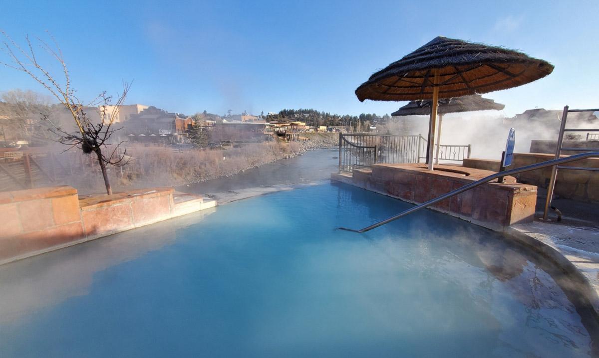 twilight hot spring
