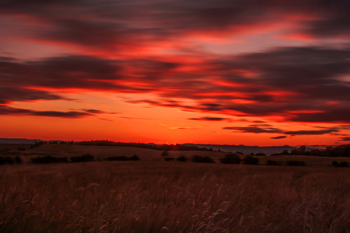 Cathkin Braes glasgow sunset