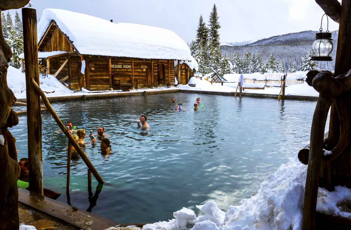Burgdorf Hot Springs in winter