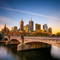 melbourne sunset from southbank