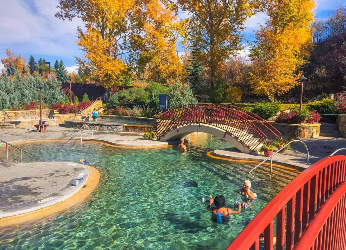 old hot springs in fall steamboat springs
