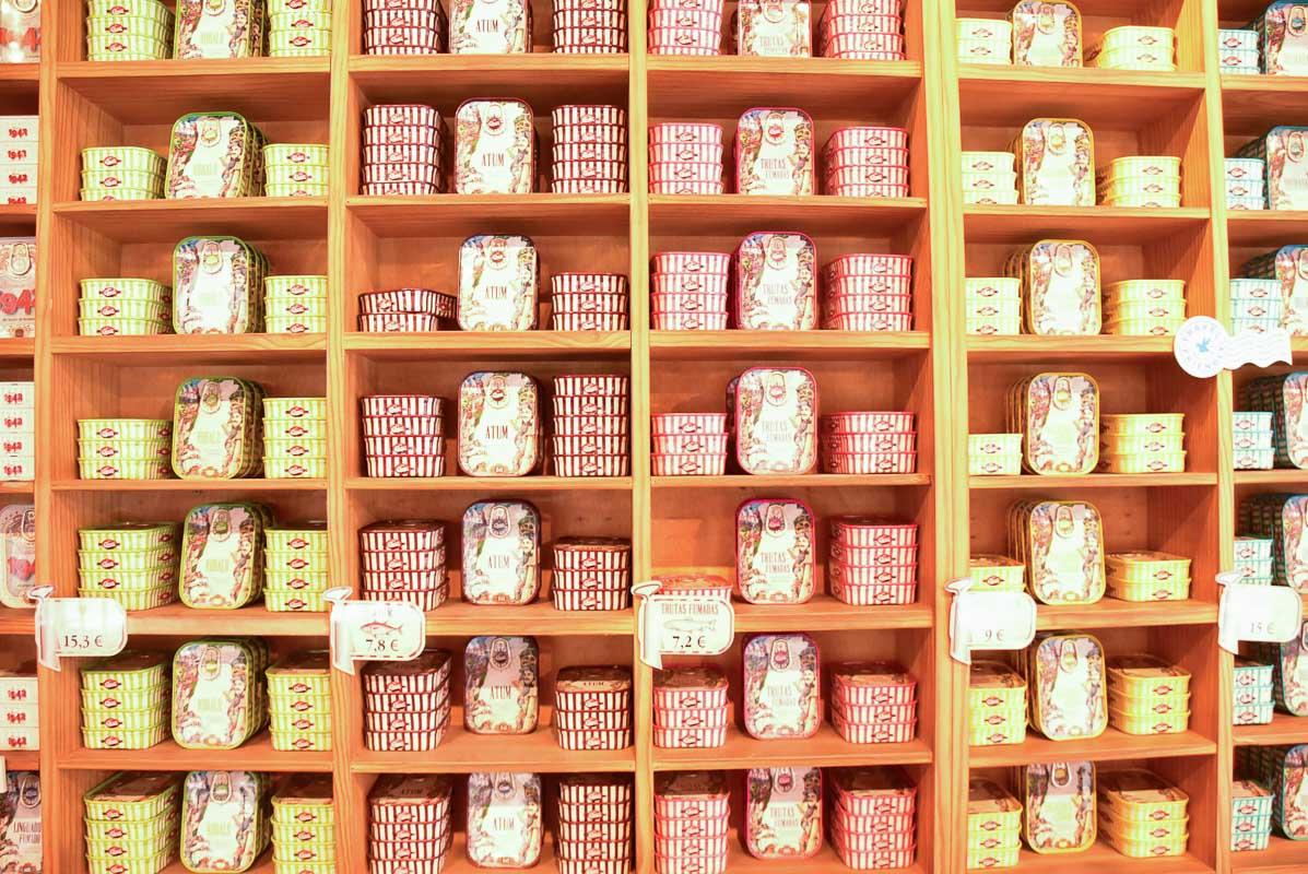 tins of seafood
