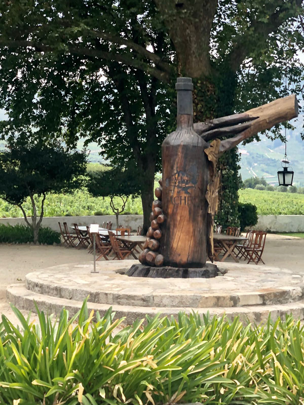 douro valley quinta da pacheca bottle sculpture