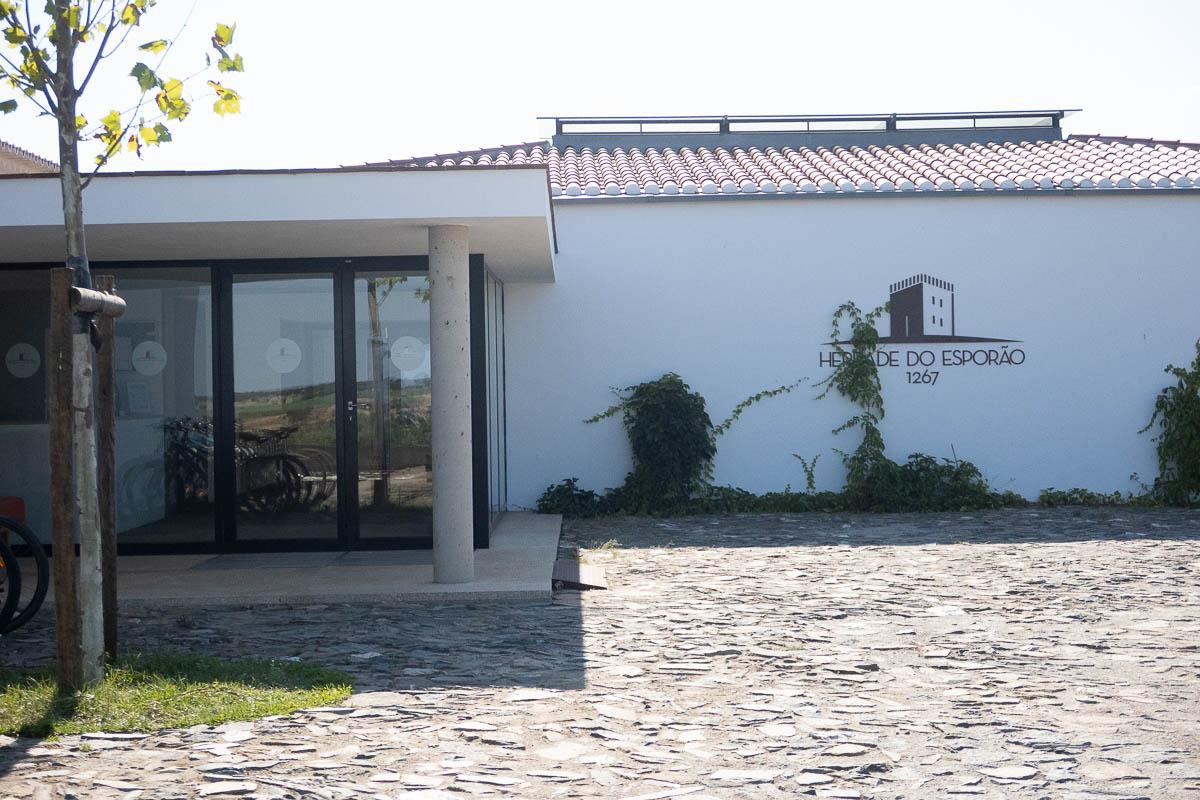 entrance to the esporao winery alentejo