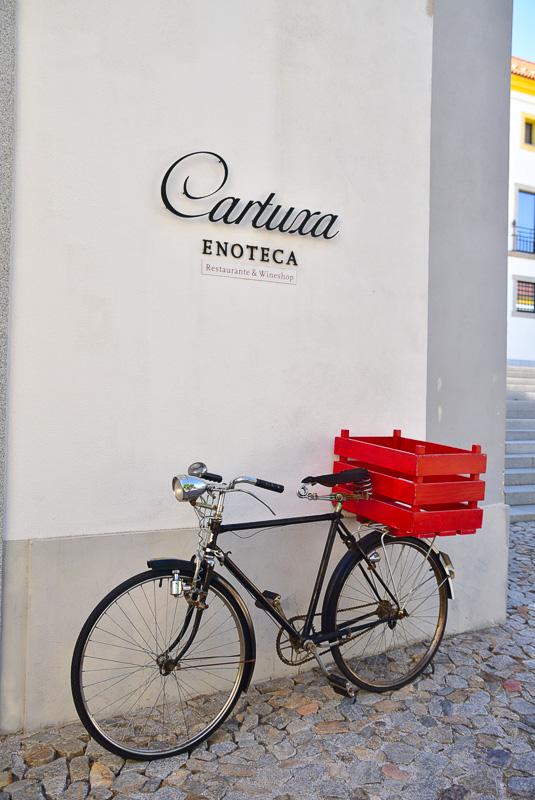 entry to caruxa enoteca evora