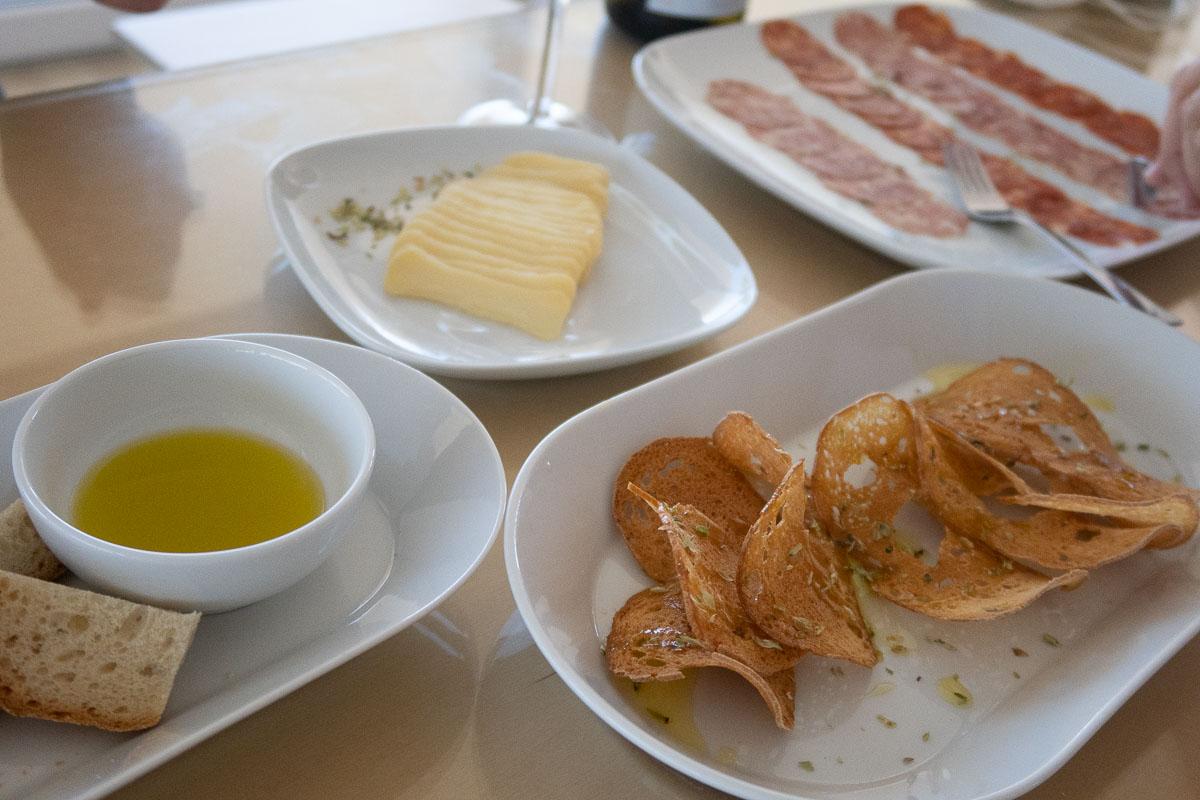 snacks at ervideira winery alentejo